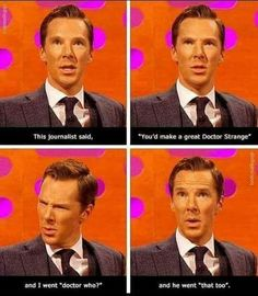 If benedict cumberbatch plays the doctor, there will be no words to describe how happy i will be. -well he has!