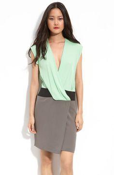 Nori Colorblock Silk Crepe Dress