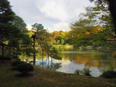 Autumn Japanese garden, Rikugien