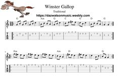 Winster Gallop / The Morris Reel Easy Guitar Tab / Sheet Music + Chords Easy Guitar Tabs, Guitar Tabs Songs, Easy Guitar Songs, Music Chords, Aiken Drum, Wildwood Flower, Lord Of The Dance, Song Sheet, Free Sheet Music