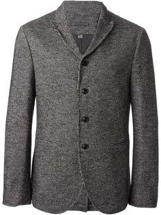 Love the John Varvatos JOHN VARVATOS houndstooth pattern three-button blazer on Wantering.