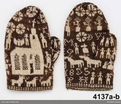 In the Swan's Shadow: Mittens, ca. 1855