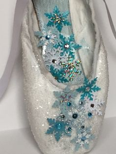 Snow Queen Pointe Shoe by AllThatZazzz on Etsy