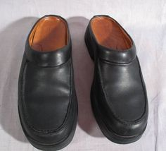 Women's Timberland Smart Clogs Shoes Black Size 8 M Genuine Leather Medium #Timberland #Clogs