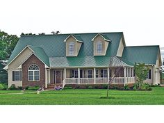 Country Farmhouse House Plan with 2582 Square Feet and 4 Bedrooms from Dream Home Source | House Plan Code DHSW075934