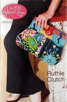 This clutch purse has a stylish shape and is a sensible size.