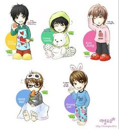SS501 | SS501 Anime Fanart Part 2 | SS501 - Triple S Philippines Blog