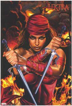 Elektra! Before she was a movie star, Elektra was a badass comic heroine.