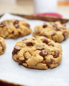 Peanut butter and chocolate chip cookies for two! This recipe makes just 4 large cookies | Like Mother Like Daughter
