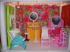 Barbie Salon Plastic Shelving Units, Barbie Store, Living Room, Plastic Shelves
