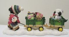ENESCO MARY'S MOO MOOS John Deere Moo What Fun It Is To Ride 864730  For sale in our Ebay store! Click photo for full details  #cow #Enesco #Ebay #JohnDeere #Christmas