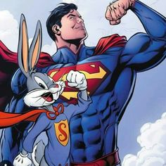 Superman and Bugs Bunny