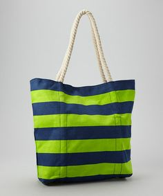 Take a look at this Green Stripe Tote on zulily today!