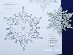 Crochet Wedding Dress Pattern, Crochet Tunic Pattern, Crochet Diagram, Crochet Motif, Crochet Doilies, Free Crochet Snowflake Patterns, Christmas Crochet Patterns, Crochet Snowflakes, Crochet Flower Patterns