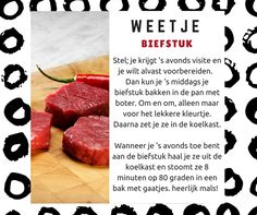 Stoomoven weetje: Biefstuk Steak, Yummy Food, Beef, Recipes, Tips, Cooking, Meat, Delicious Food, Advice