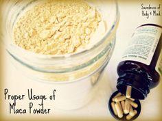 maca powder usage