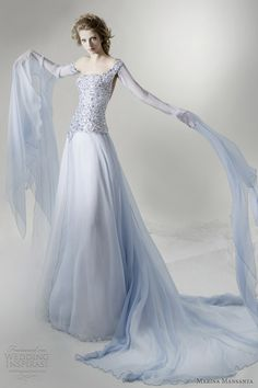 pale blue colored dresses | Marina Mansanta Wedding Dresses — Ninfe Bridal Collection | Wedding ...