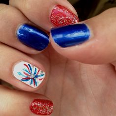 4th of July Firework Nails