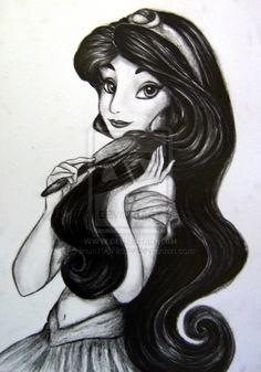 Jasmine Portrait by on deviantART Disney Pixar, Arte Disney, Disney And Dreamworks, Disney Magic, Disney Art, Disney Jasmine, Aladdin And Jasmine, Disney Sketches, Disney Drawings