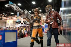 SDCC 2014: Holly Conrad as Rocket at the Marvel Booth