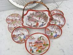 Vintage Schalen - alte asiatische Konfektttellerchen shabby chic - ein Designerstück von artdecoundso bei DaWanda