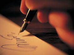 a writers hand