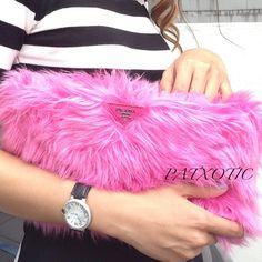 FUR FASHION BAGS on Pinterest | Fendi, Prada and Pink Clutch