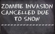 Zombob's Zombie News and Reviews: Chicago zombie invasion postponed due to snow
