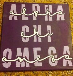 Alpha Chi Omega Canvas Customizable by CustomCraftsbyCourt on Etsy - Crafts Journal Alpha Phi Omega, Kappa Alpha Theta, Gamma Phi Beta, Alpha Chi, Delta Chi, Chi Rho, Delta Zeta, Omega 3, Sorority Canvas