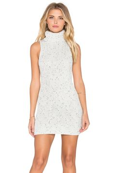 89f3e56b8b3f53 GLAMOROUS Sleeveless Turtleneck Mini Dress in Black   White White Turtleneck  Dress