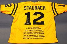 12f2178f507 $263.44Autographed Roger Staubach Navy Midshipmen Authentic Style Custom  Stat Jersey. Roger inscribed the jersey