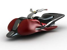 """""""Machine Fly"""", a flying motorcycle concept that could possibly use a mini jet engine for its propulsion system."""