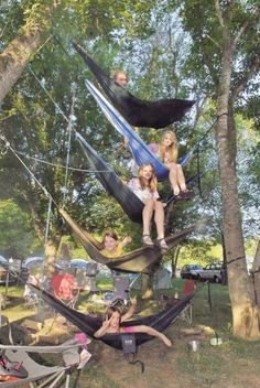 Camping Hammock Fun- How do you get UP there??