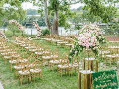 Gold art deco chairs at glam outdoor wedding reception Great Gatsby Themed Wedding, Our Wedding Day, Wedding Ideas, Outdoor Wedding Reception, Wedding Website, Got Married, Real Weddings, Wedding Planner, Virginia