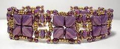 Resultado de imagen de silky beads bracelet. Nexus Bracelet pattern here: http://www.aroundthebeadingtable.com/Patterns/Nexus.html