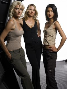 Caprica, D'Anna and Sharon Valeri. Are there Cylons truly among us. With Beau.