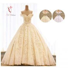 f1e66f6d231a3 高級 ウエディングドレス 2カラー シャンパンゴールド ホワイト ロングトレーン 2.5メートル 編上げ ゴージャス オフショルダー 天使 上品 刺繍  Aライン 花柄 ドレス ...
