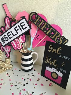 bridal shower photo booth props photo booth props kate spade inspired bridalu2026