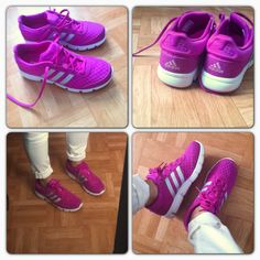 Addidas - sneakers - baskets - rose- running.  i have these...can see me coming a mile away...hahahaha