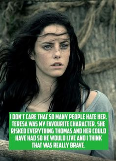 The maze runner confession. YESSS!!! Why couldnt Thomas see that!?