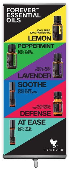 Forever Essential Oils 6 Oils Banner - Banners - Forever Tools
