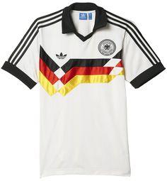 Adidas Originals Deutschland DFB Retro Trikot Heim EM 1988 WM 1990 günstig  kaufen und bestellen im · Camisa Da AlemanhaCamisas ... 8b0b7c7e39add