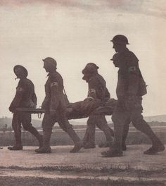 WW1 Stretcher Bearers I saw these people everywhere. Anywhere you look there would be one.