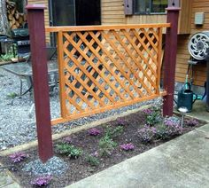 Natural Privacy fence.  Need to make for the Clematis to grow on.