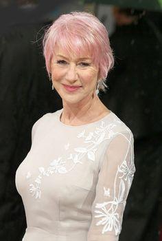 Helen Mirren rockin' some pink hair. <3