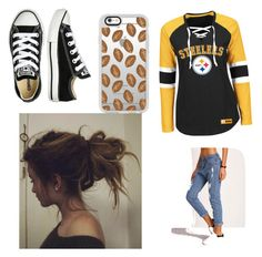 """""""Fall Football-Womens"""" by kayla-wilburn-1 on Polyvore featuring Converse and Casetify"""