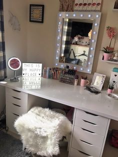 IKEA Alex drawers and linmon top as my vanity ✨✨✨ #vanitytable #vanity #makeupjunkie #makeup #dressingtable #ikea