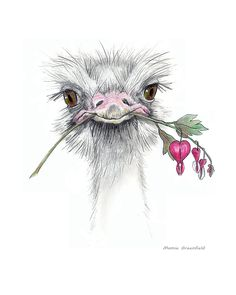 Matilda The Ostrich Painting by Mamie Greenfield