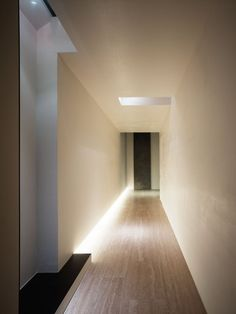 Lights | Hidden Lights | Architectural Lighting | White Corridor | Wood