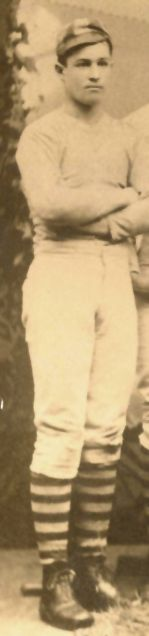 Mr. John B. Thayer as a young cricketer, cropped from a group shot of team players. He was a first-class cricketer and the only cricketer known on-board to have died in the sinking of the R.M.S. Titanic.